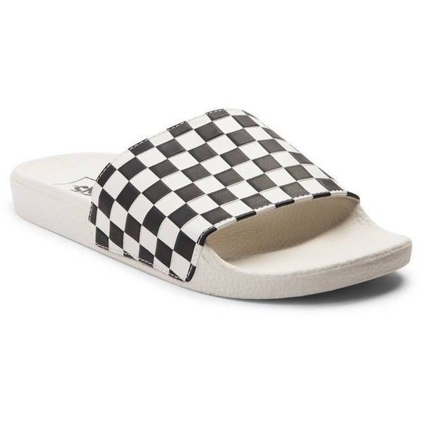 Womens Vans Slide-On Chex Sandal ( 99) ❤ liked on Polyvore featuring shoes aee588264