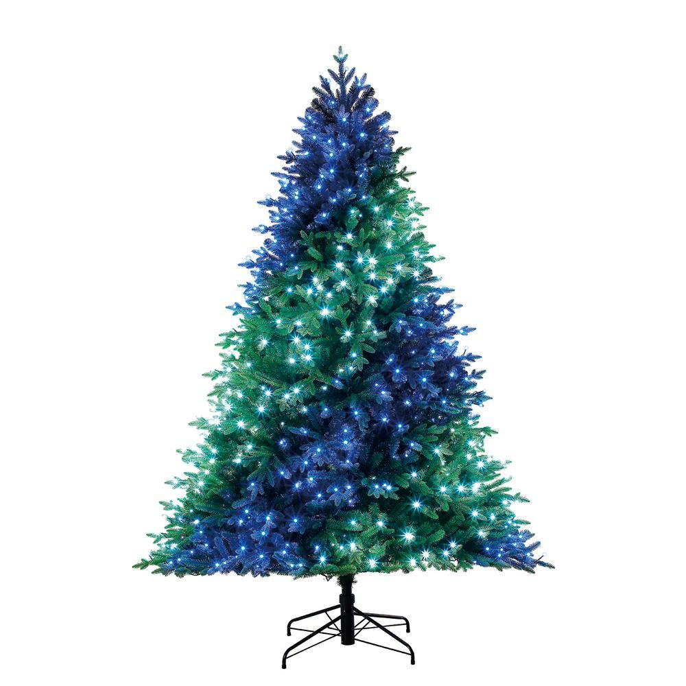 Home Decorators Collection 7 5 Ft Swiss Mountain Black Spruce Twinkly Rainbow Christmas Tree With 600 In 2020 Rainbow Christmas Tree Rainbows Christmas Christmas Tree