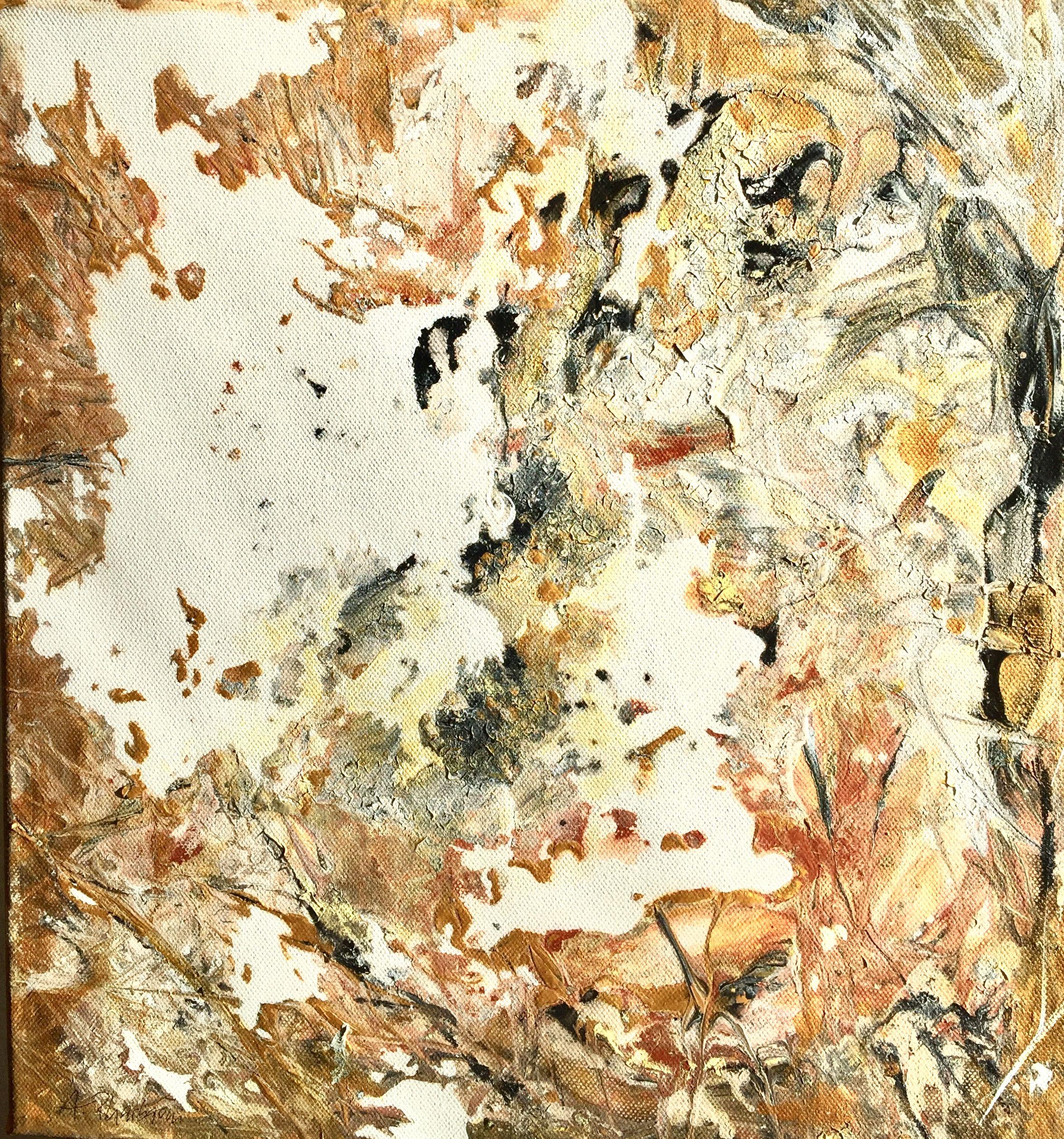 Abstrakte Malerei Acryl auf Leinwand /Keilrahmen 40x40 cm aus dem ...