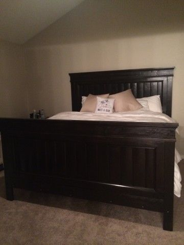 Photo of Fancy Farmhouse King Bed with footboard | Ana White –  Fancy Farmhouse King Bed …