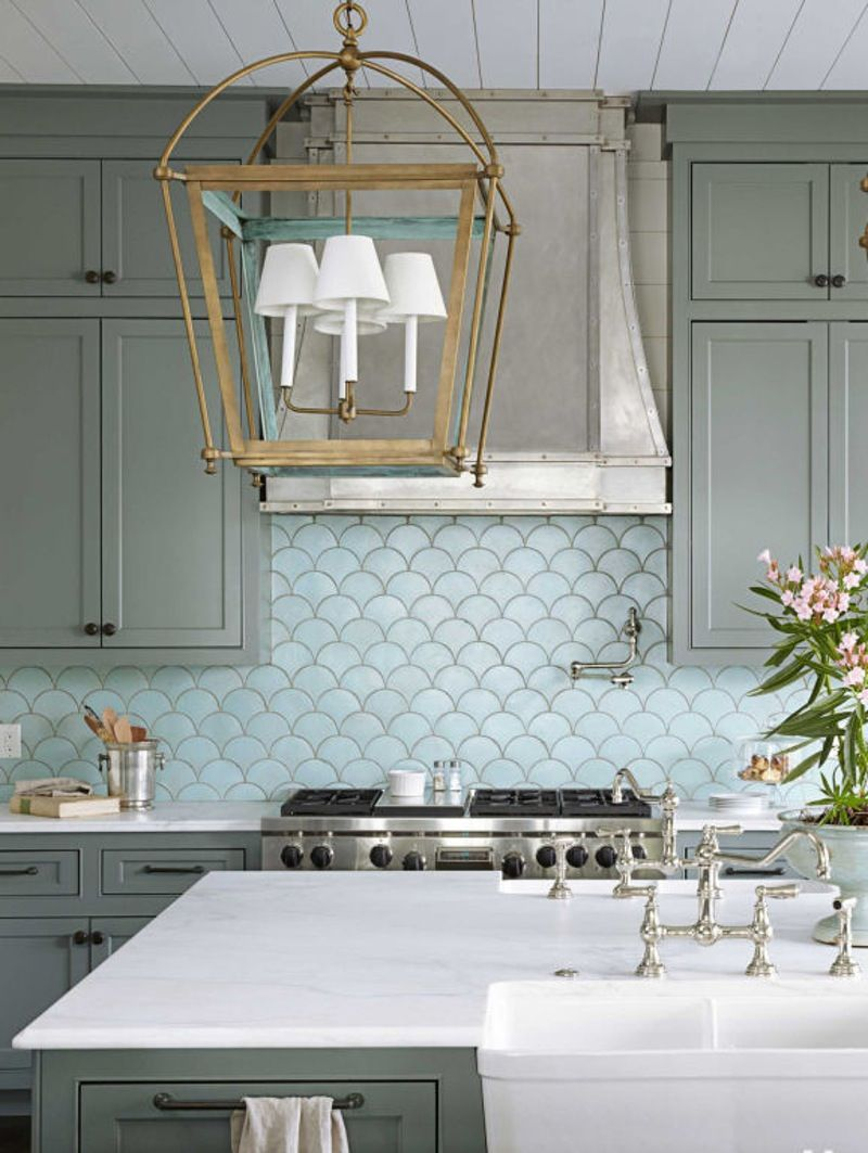 Totally On Trend: Fabulous Fish Scale Tiles for the Bath & Kitchen ...