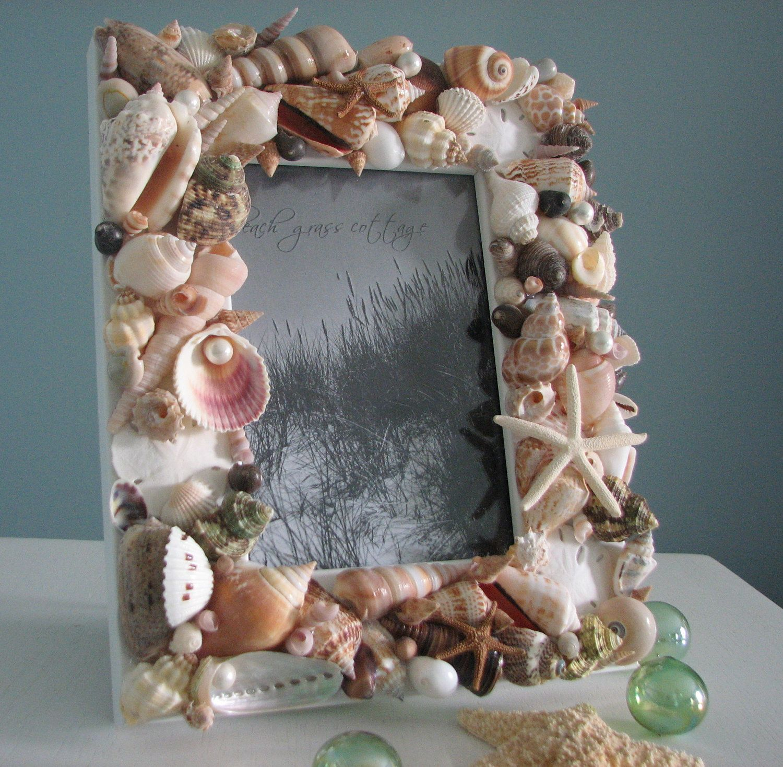 Beach Decor Seashell Frames Nautical Decor By