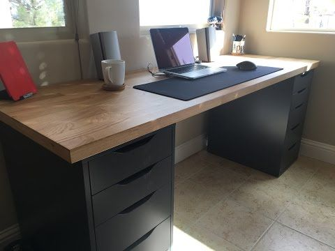 Ikea Desks Office Makeover Youtube Home Office Setup Ikea Alex Desk Home Office Desks