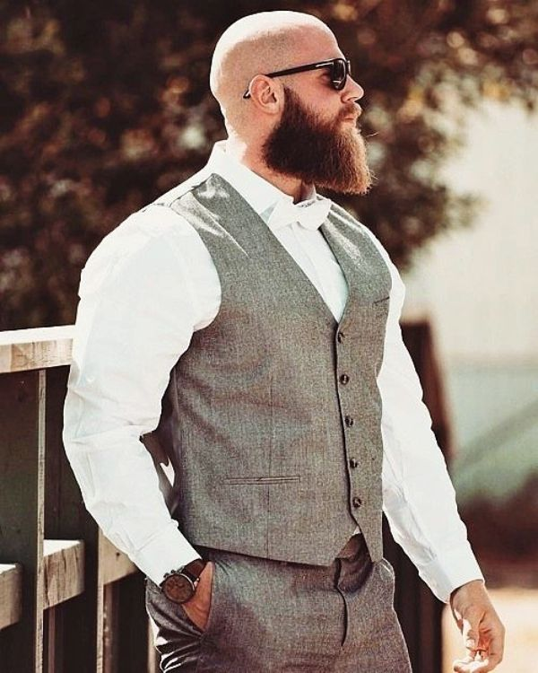 Shaved Head With Beard - 90 Beard Styles For Bald Men #hairandbeardstyles