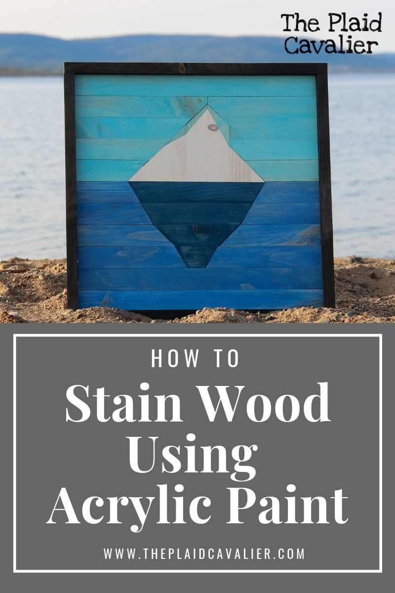Colour wood stain diy using acrylic paint by using