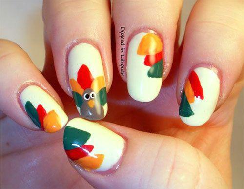 Thanksgiving Nail Art Designs Nails Oo Lala Pinterest