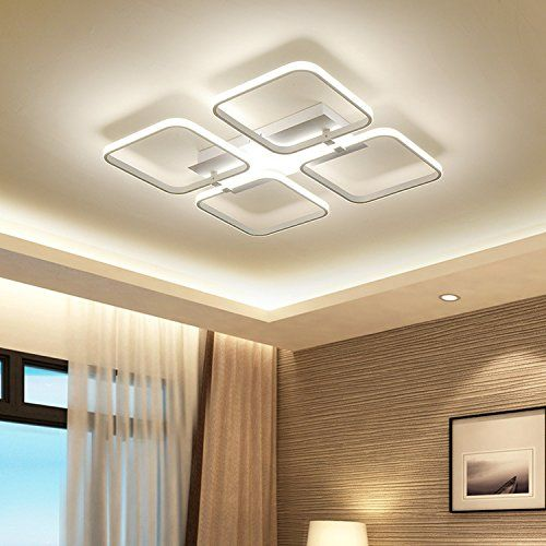 Modern Simple 4 Remote Control Dimming Led Ceiling Lamp