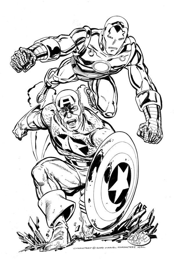 Iron Man Captain America by John Byrne super heros