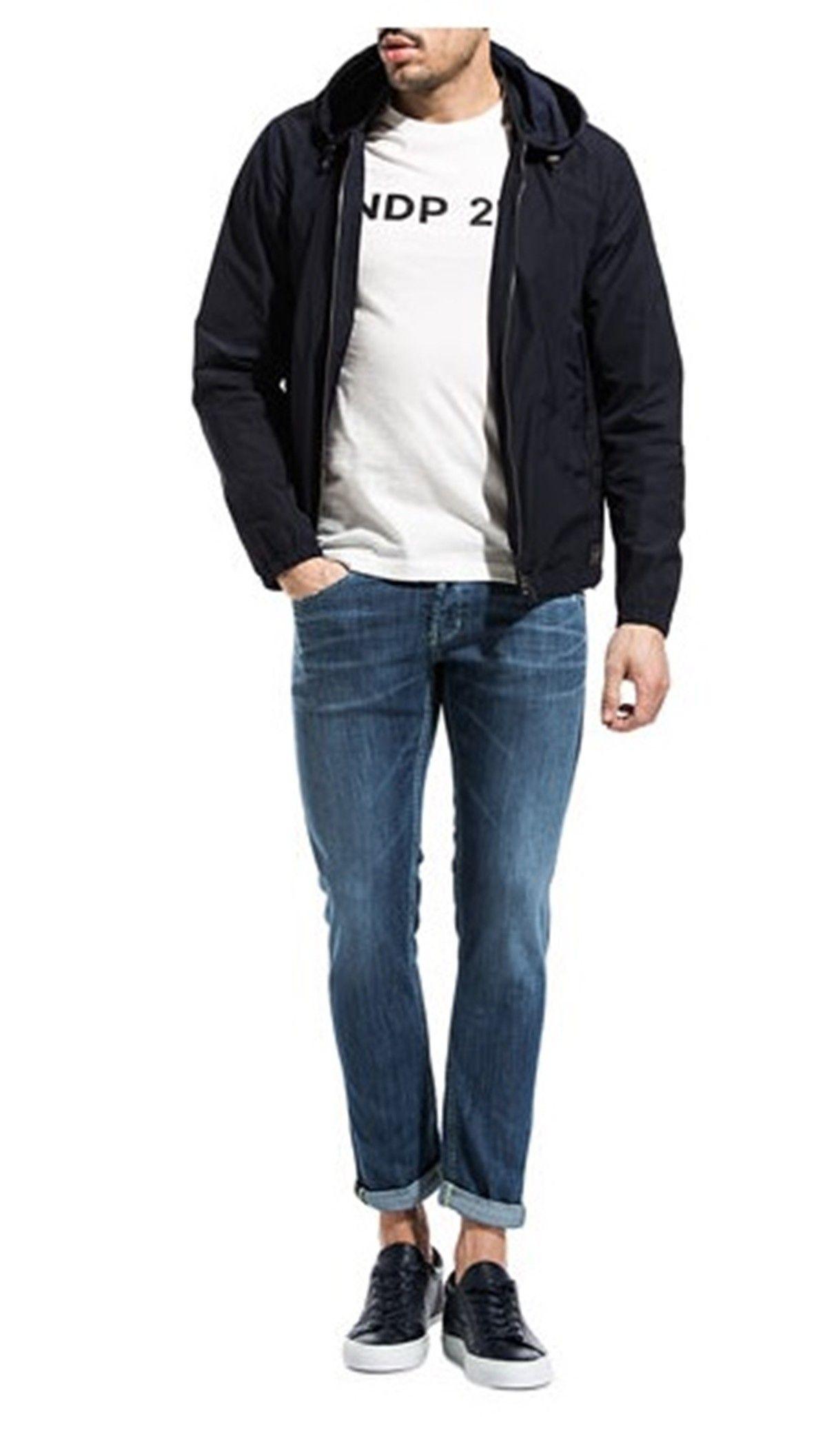 Giubbino Dondup uomo denim guru uj94df159u n96 800 jeans