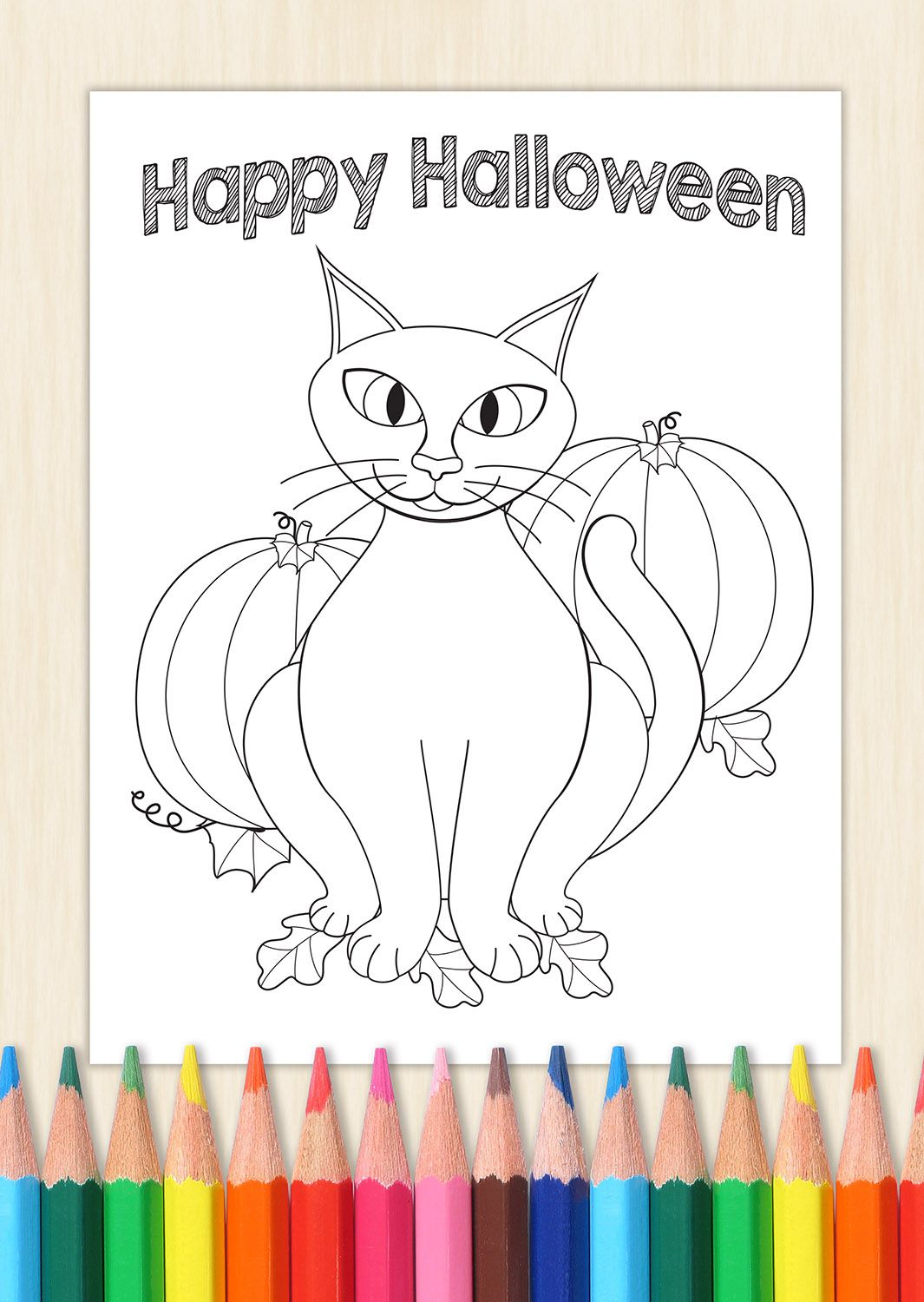 Sassy Halloween cat, instant downloadable file. Grab your