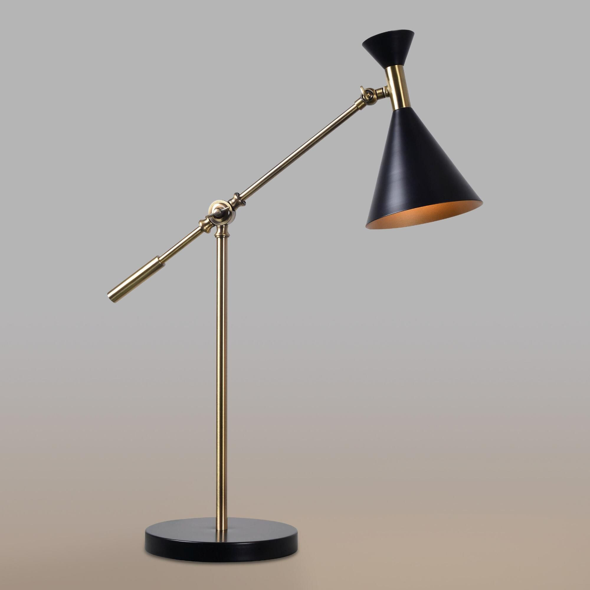 Wondrous Antique Brass Mid Century Adjustable Melvin Task Desk Lamp Download Free Architecture Designs Viewormadebymaigaardcom