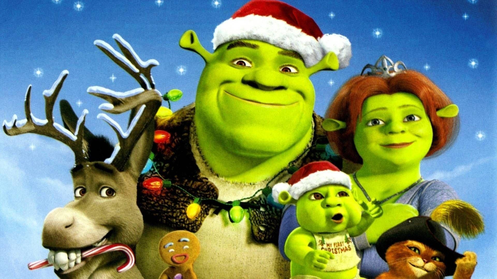Shrek Christmas.Shrek The Third Wallpapers Seecartoon Com Shrek