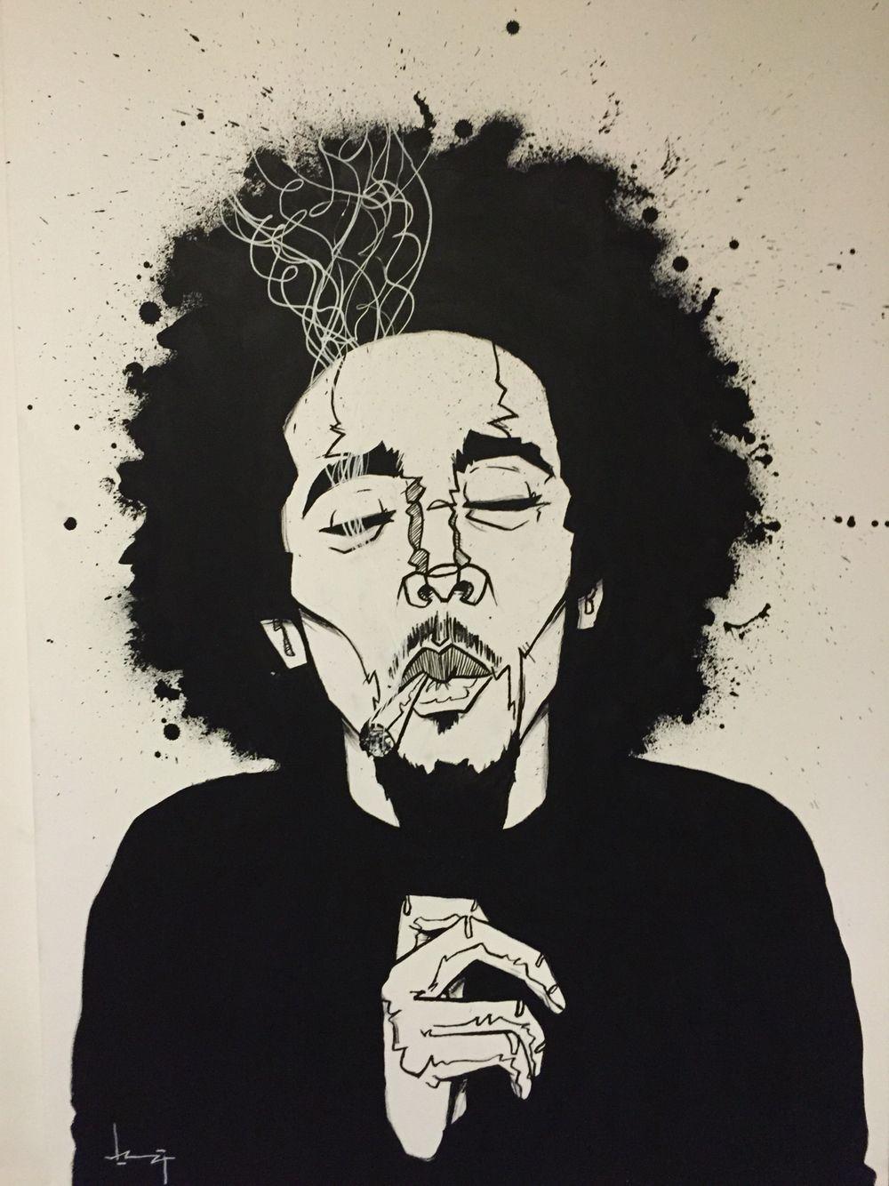 Bob Marley Painting By Kdkammijer Www Kdkammeijer Com Ilustraciones Drogas Arte Dibujos
