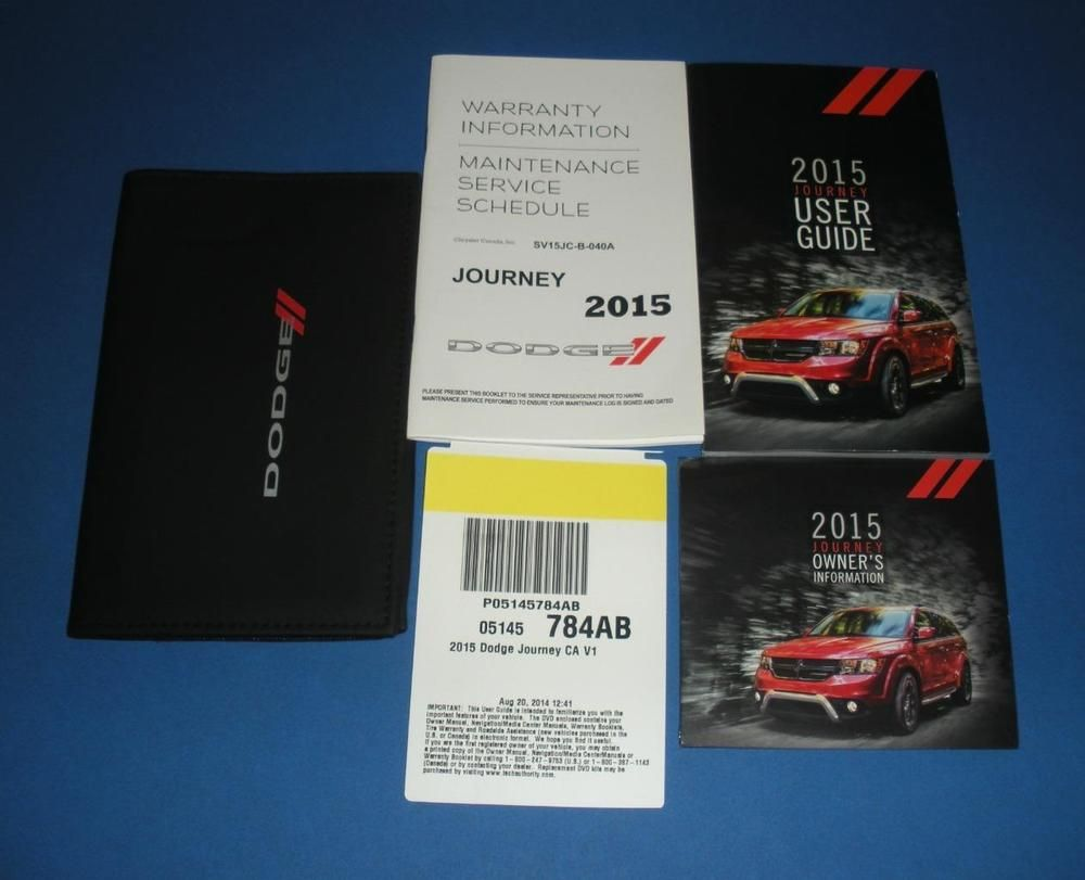 2015 Dodge Journey Owners Manual Book Guide Set