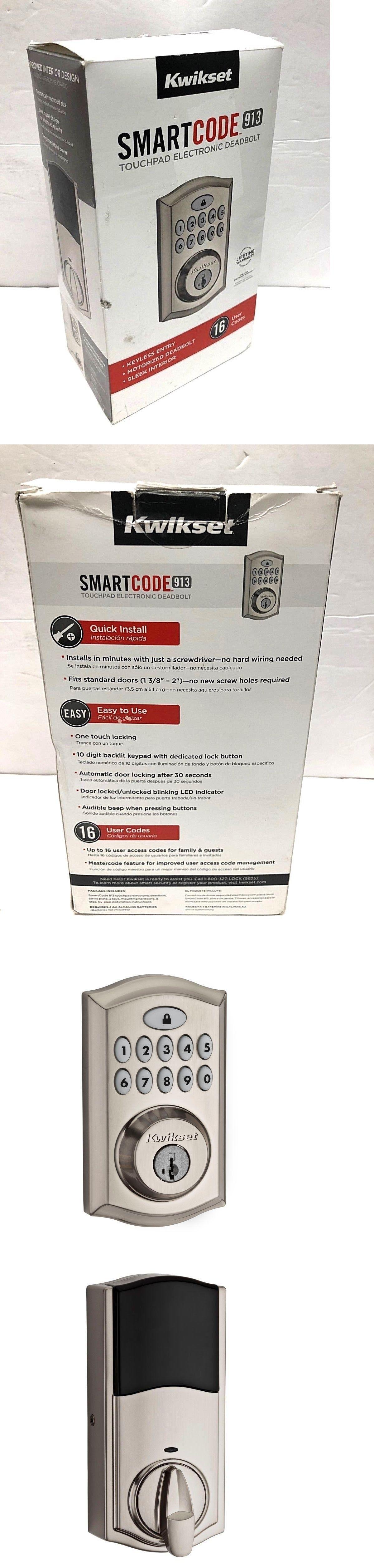 Door Locks And Lock Mechanisms 180966 Kwikset Smartcode 913 Satin Nickel Single Cylinder Electronic Deadbolt Smartk Kwikset Smart Deadbolt Electronic Deadbolt