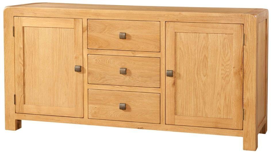Devonshire Avon Oak Large Wide Sideboard Large Sideboard Oak Sideboard Modern Chest Of Drawers