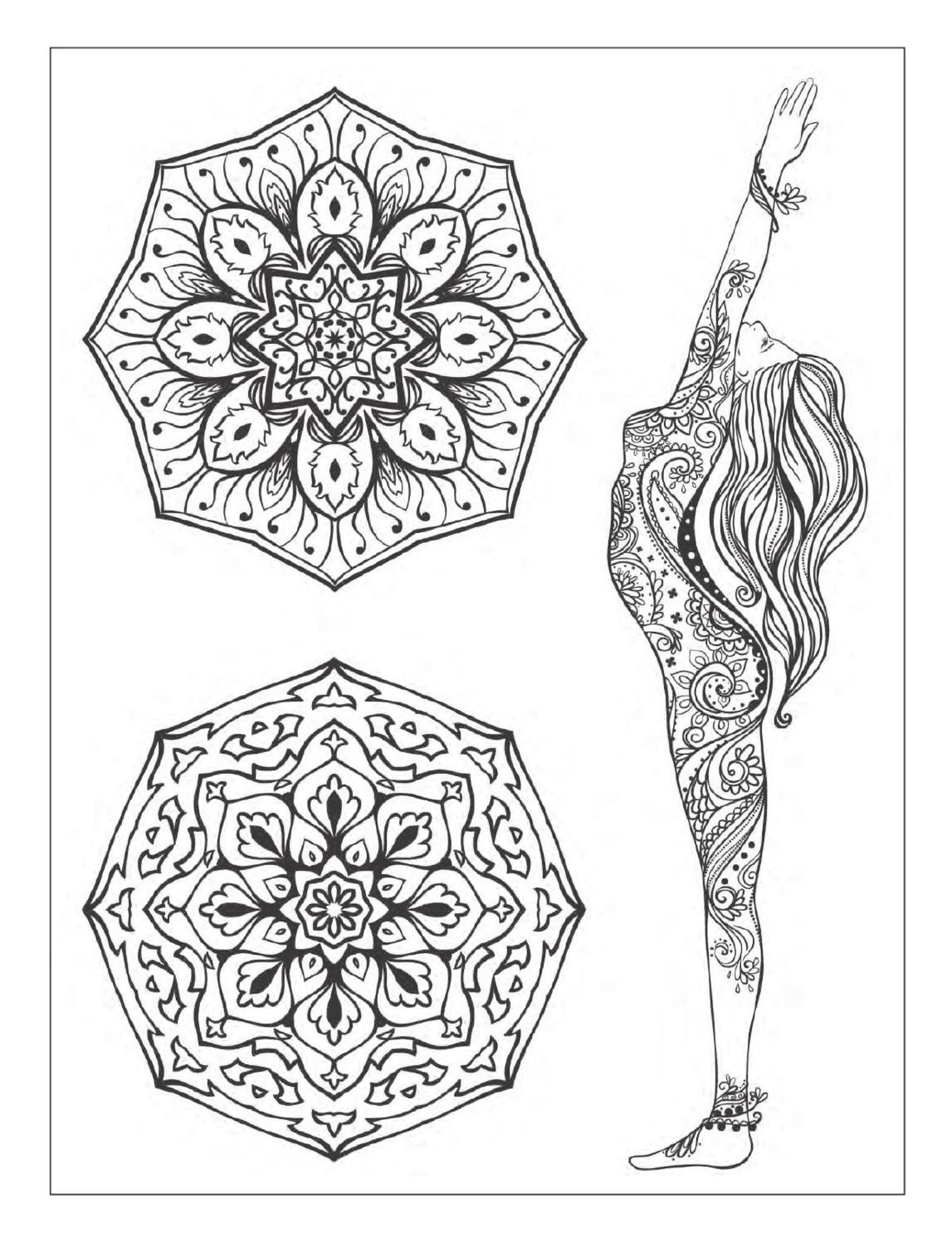Pin By Nilam Shah On Yoga Coloring Books Adult Coloring Book