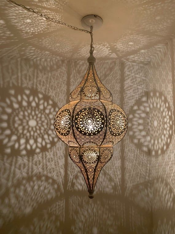 Photo of Moroccan Lantern – Boho Decor – Moroccan Decor – Pendant Light – Moroccan Ceiling Light