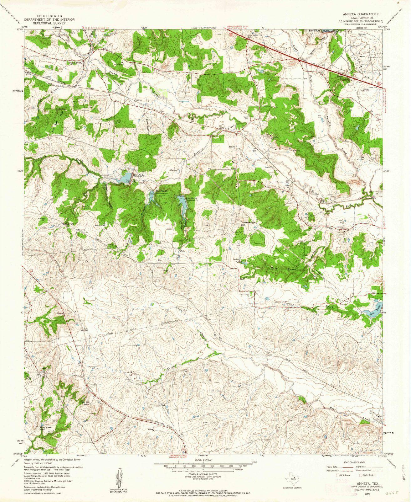 <p>1959 Anneta, TX - Texas - USGS Topographic Map</p>
