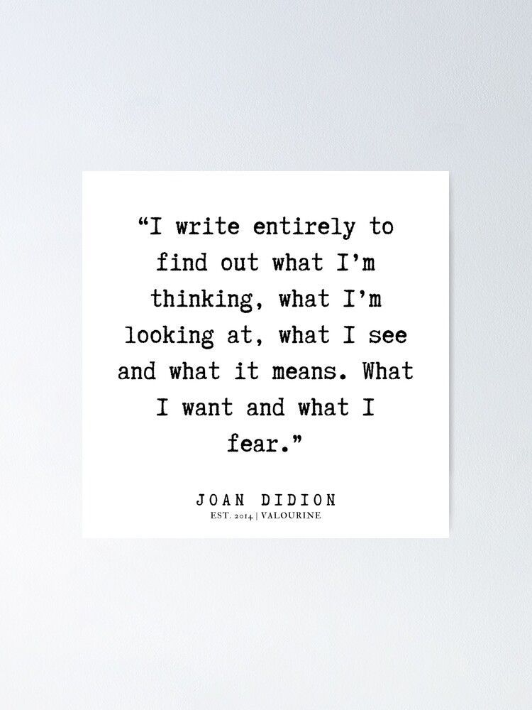 10 |  Joan Didion Quotes | 200106 Poster by QuotesGalore