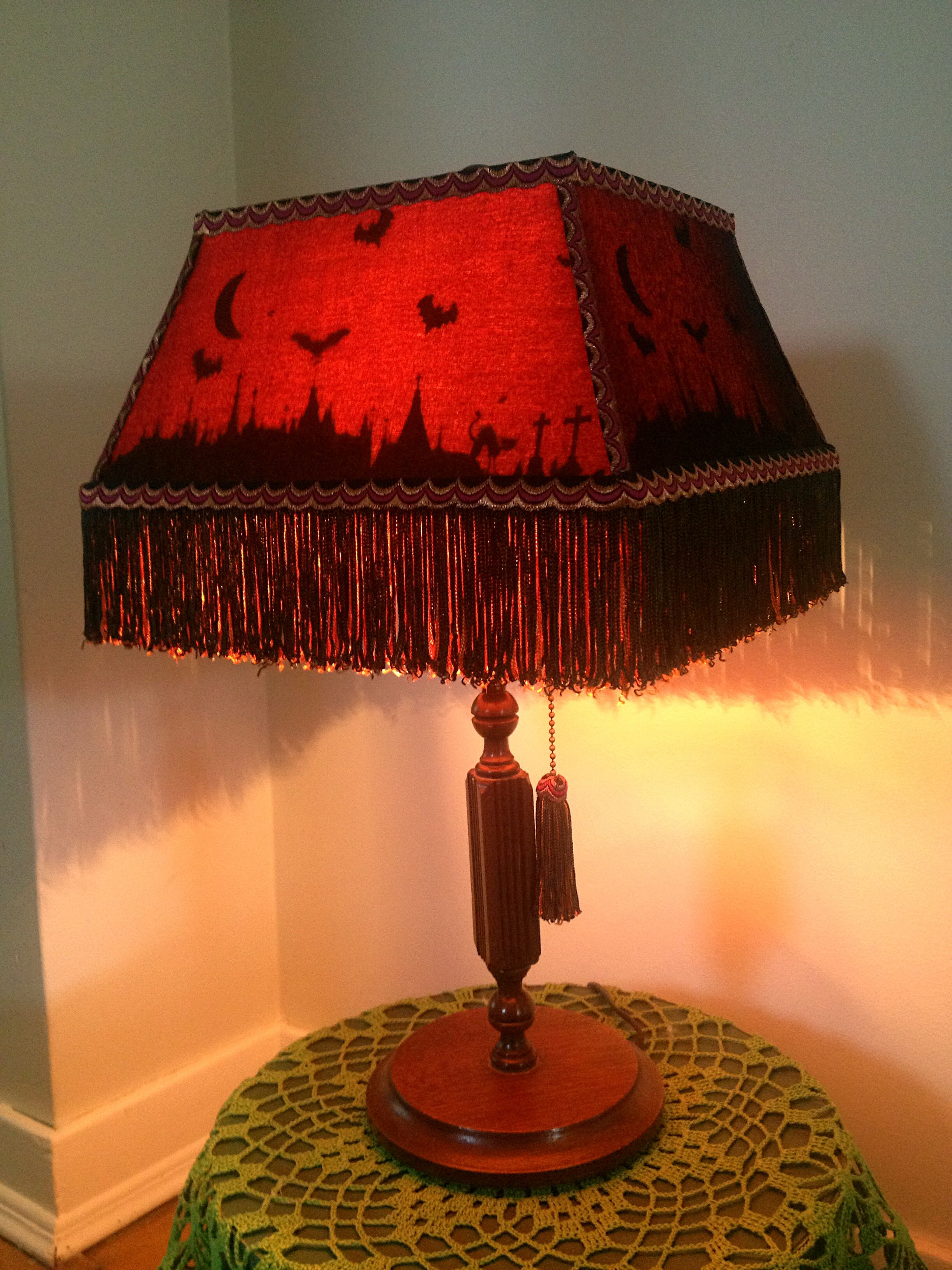 Another in a series of halloween silhouette lampshades the base is another in a series of halloween silhouette lampshades the base is from the 1920s that aloadofball Images