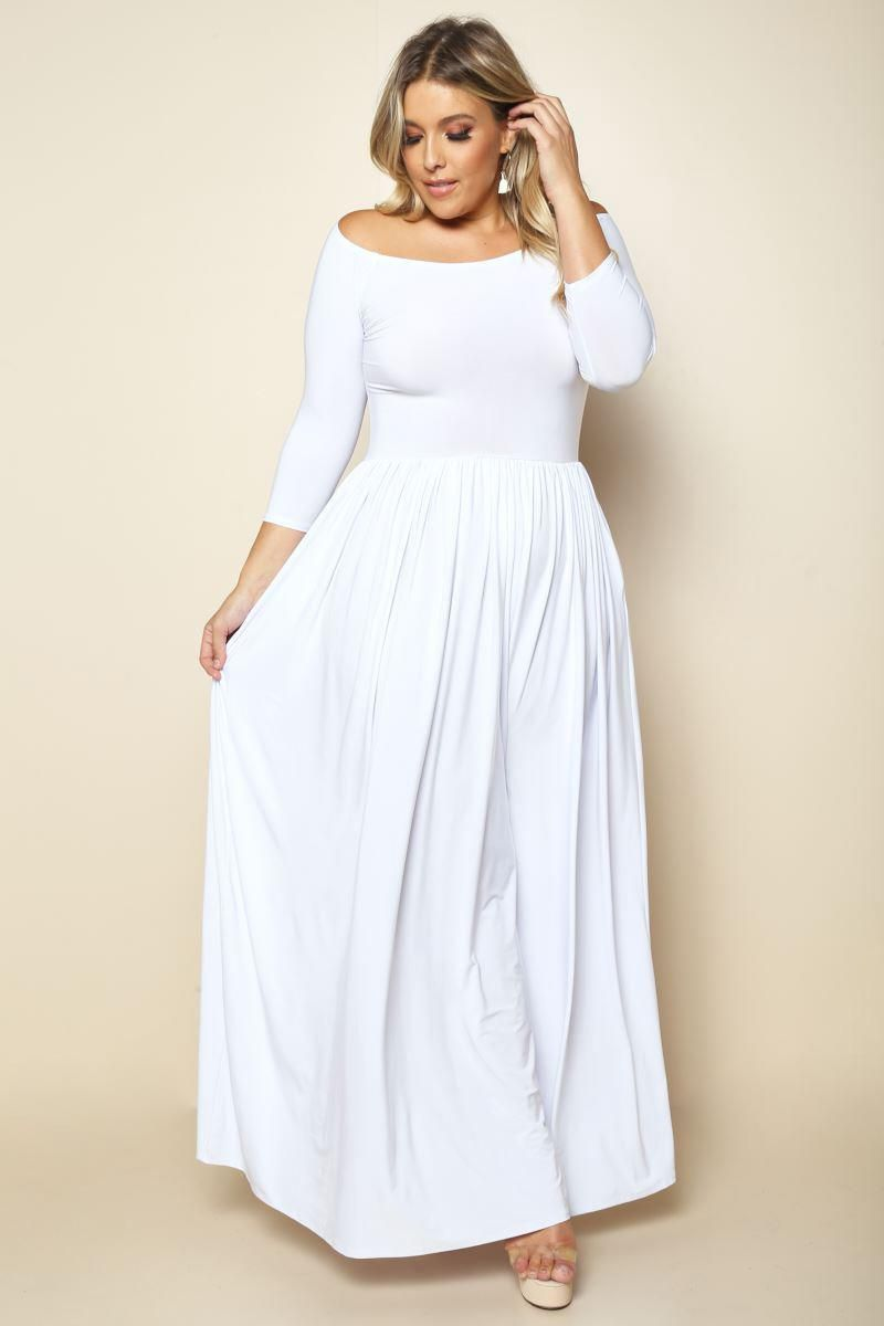 Whitegracie plus size offtheshoulder dress dresses gs