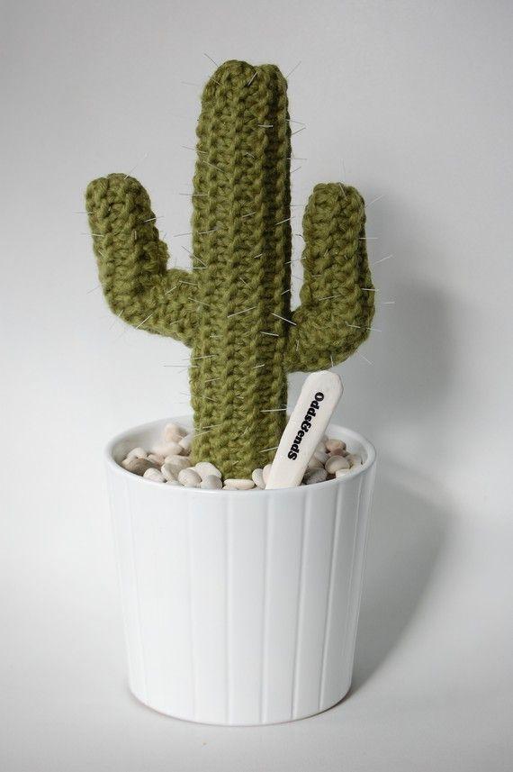 ARIZONA Knitted Cactus van oddsandendshandmade op Etsy