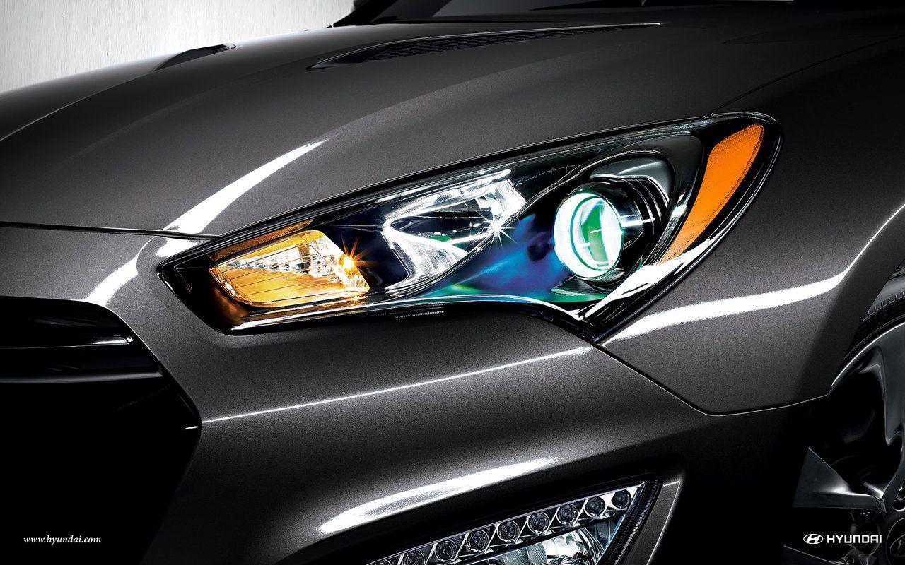 2015 hyundai genesis coupe ultimate hid xenon headlights wallpaper