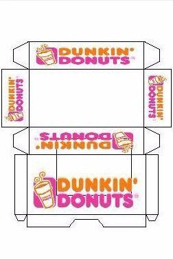 Mini Printable Dunkin Donuts Elf Sized Donut Box Wђiɱʂisal