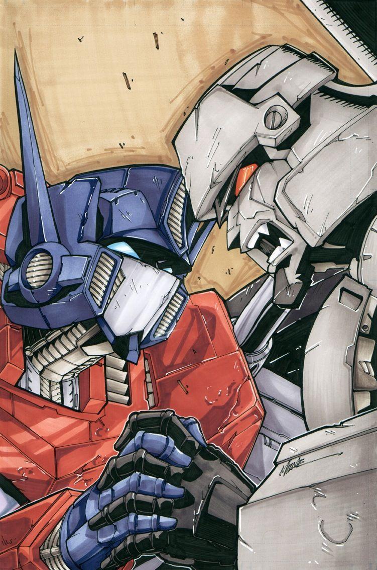 Optimus prime megatron transformers pinterest - Transformers cartoon optimus prime vs megatron ...