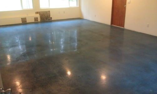 Polished concrete floors concrete diamond polish for Buffing stained concrete floors