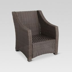 belvedere wicker patio club chair frame only threshold my