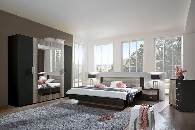 flofa la chambre coucher bicolore en noir et d cor