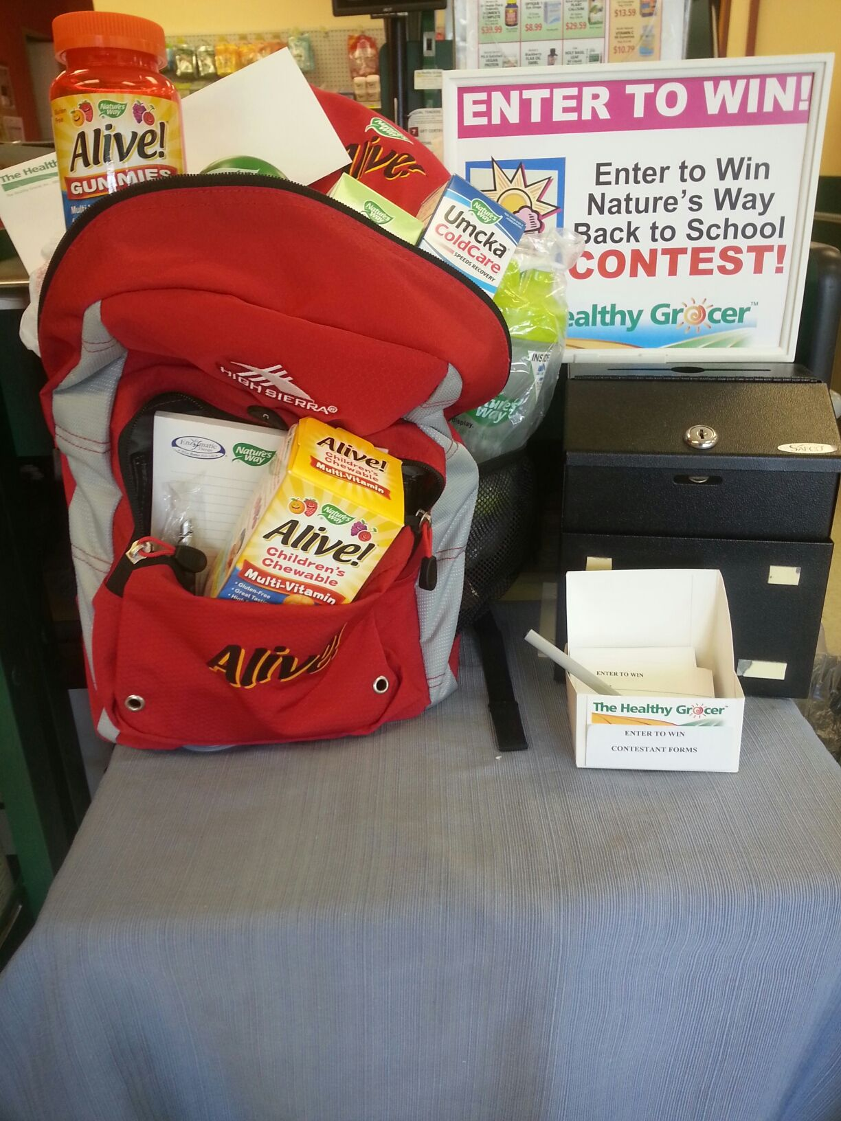 Back to School Nature's Way Contest. Enter today! Children's supplements and more! Contest ends August 20th, 2014 http://www.thehealthygrocer.com/kids/bts.html