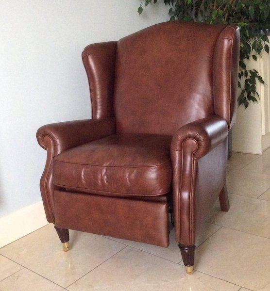 Laura Ashley Leather Reclining Chair (With images ...