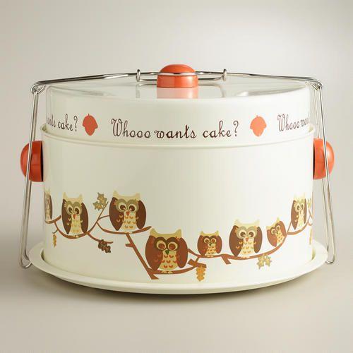 Owl Cake Carrier World Market