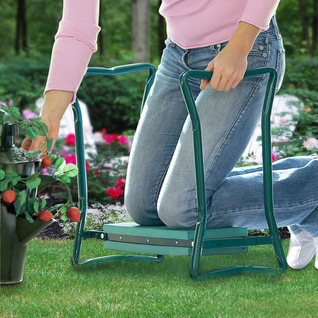 Sturdy and Lightweight Clothes From Dirt /& Grass Stains Garden Kneeler And Seat Protects Your Knees Foldable Stool For Ease Of Storage EVA Foam Pad Bench Comes With A Free Tool Pouch!