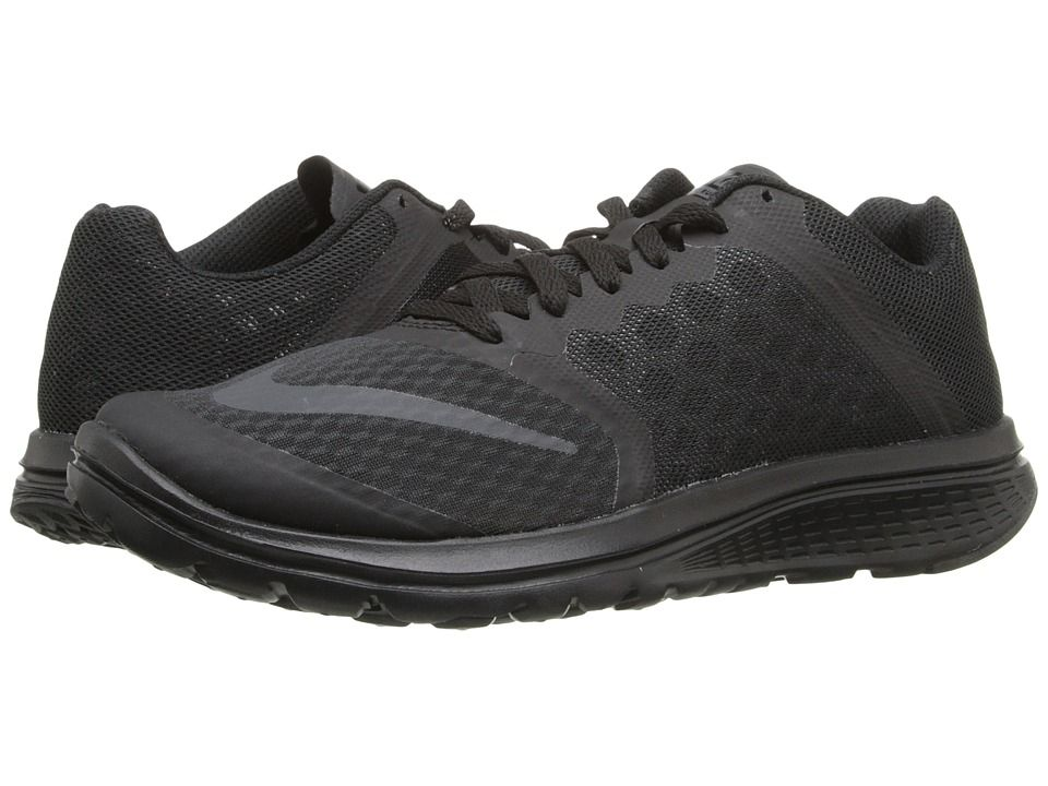 meet 257d6 d223c Nike FS Lite Run 3 Women's Running Shoes Black/Black/Black ...