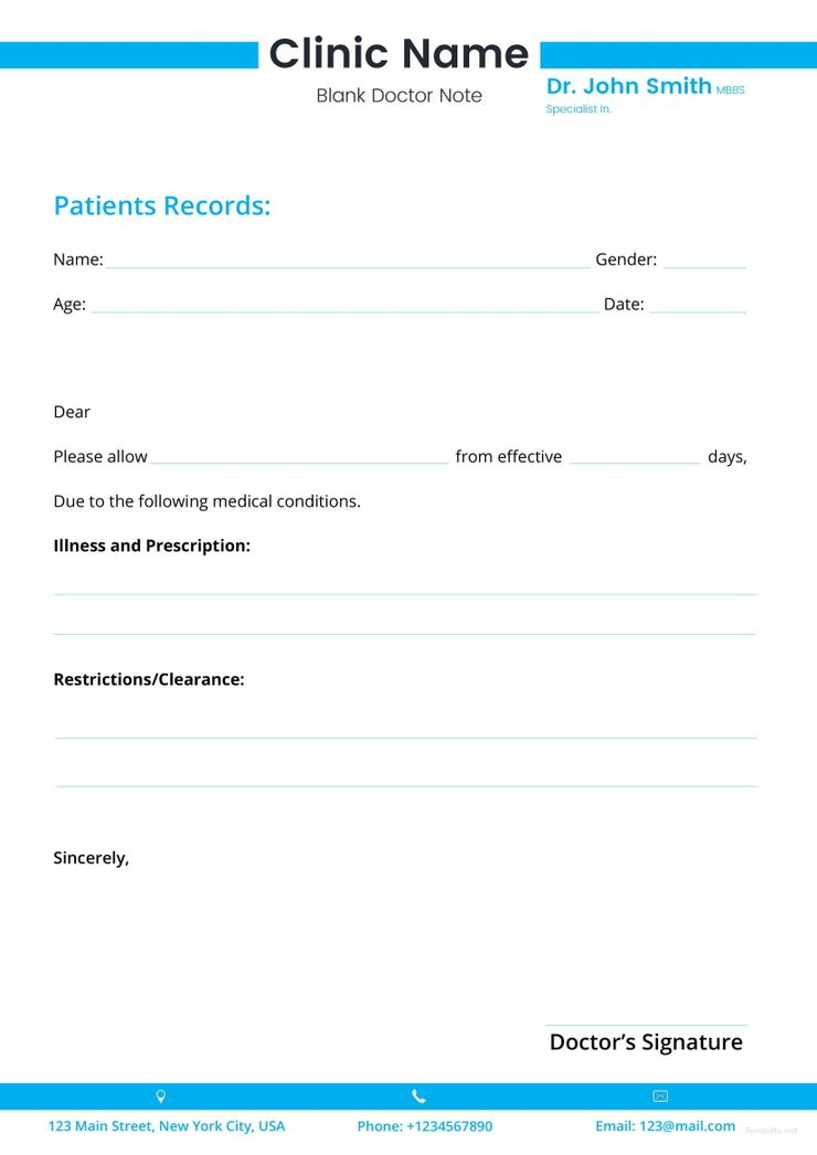 Blank Doctor Note Pinterest Notes template, Template and Note - blank memo template