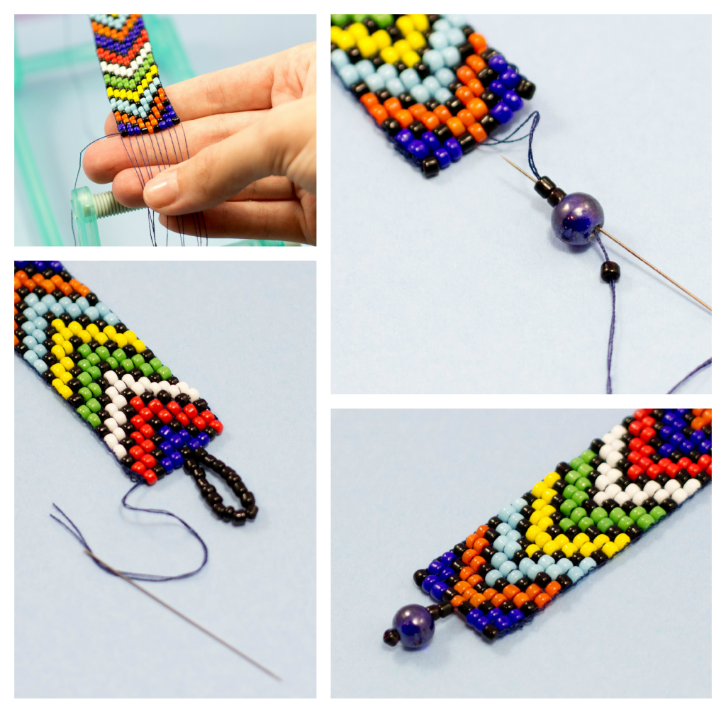Beads instructions - African Diy Bead Loom Bracelet