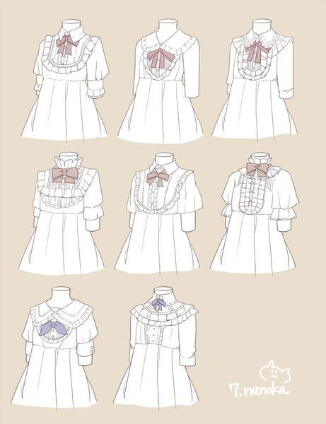 ワンピースとブラウスいろいろ コスチュームデザイン ロリータスタイル ドレスのデザイン