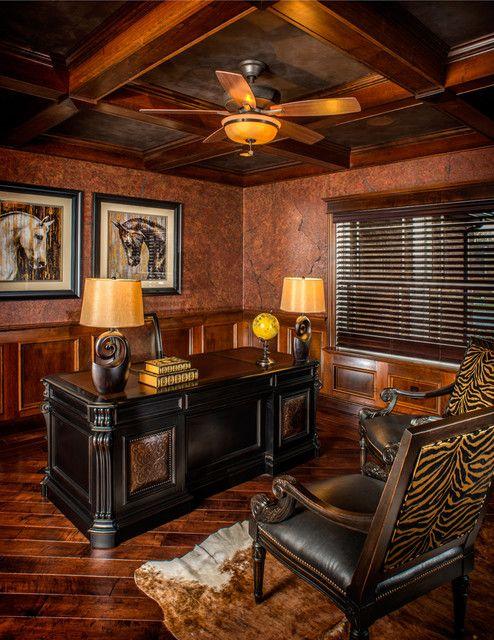 Rustic Office Design Ideas Furniture Desk Room Cozy Modern