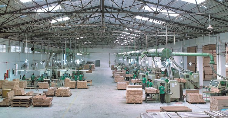 Weinig Profimat Moulder Production Lines In A Modern Wood Flooring  Manufacturing Factory In Guangzhou, Guangdong
