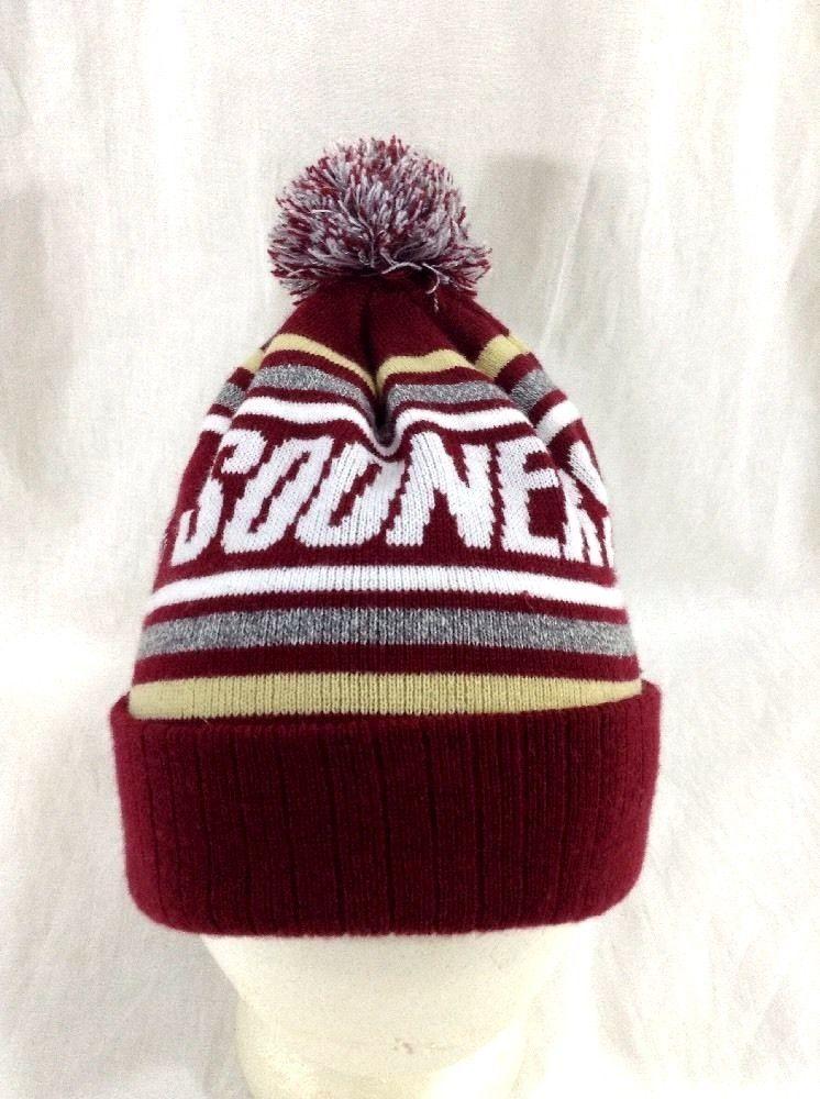 f6dbb8467e1 Oklahoma Sooners Hat Winter Beanie Pom Skull Cap  sooners  OklahomaSooners