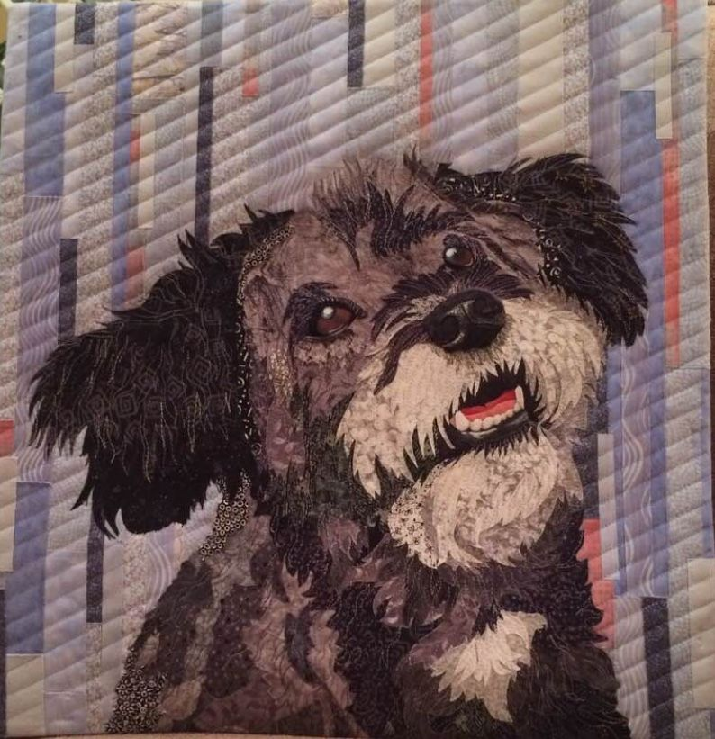 """Izzie"" by Anne Mathers (Victoria BC) 2018 Art quilts"