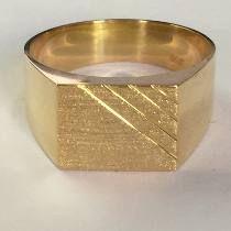 650db6980e29f Labelejoias Anel Masculino Retangular Forrado Ouro 18k 750   Anéis ...