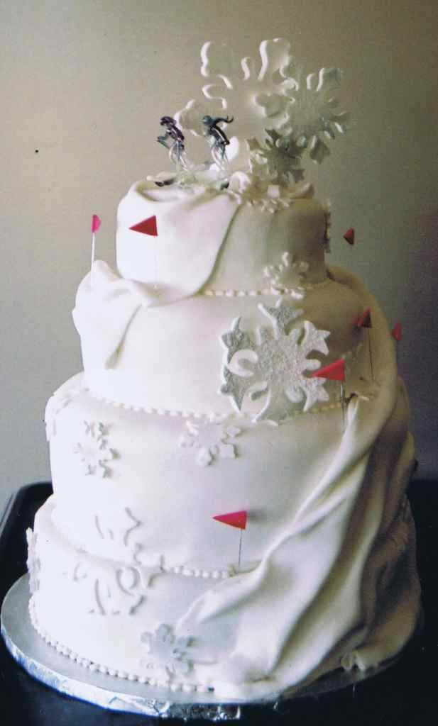 Ski Cake Decorations Wedding Toppers Embed Your Love For Skiing In Marriage