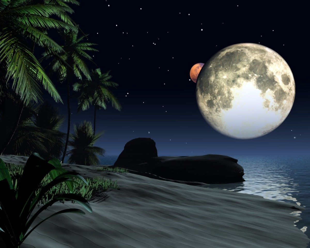 4k Ultra Hd Moon Wallpapers Hd Desktop Backgrounds 3840x2160 Beautiful Moon Moon Beach Mystic Moon