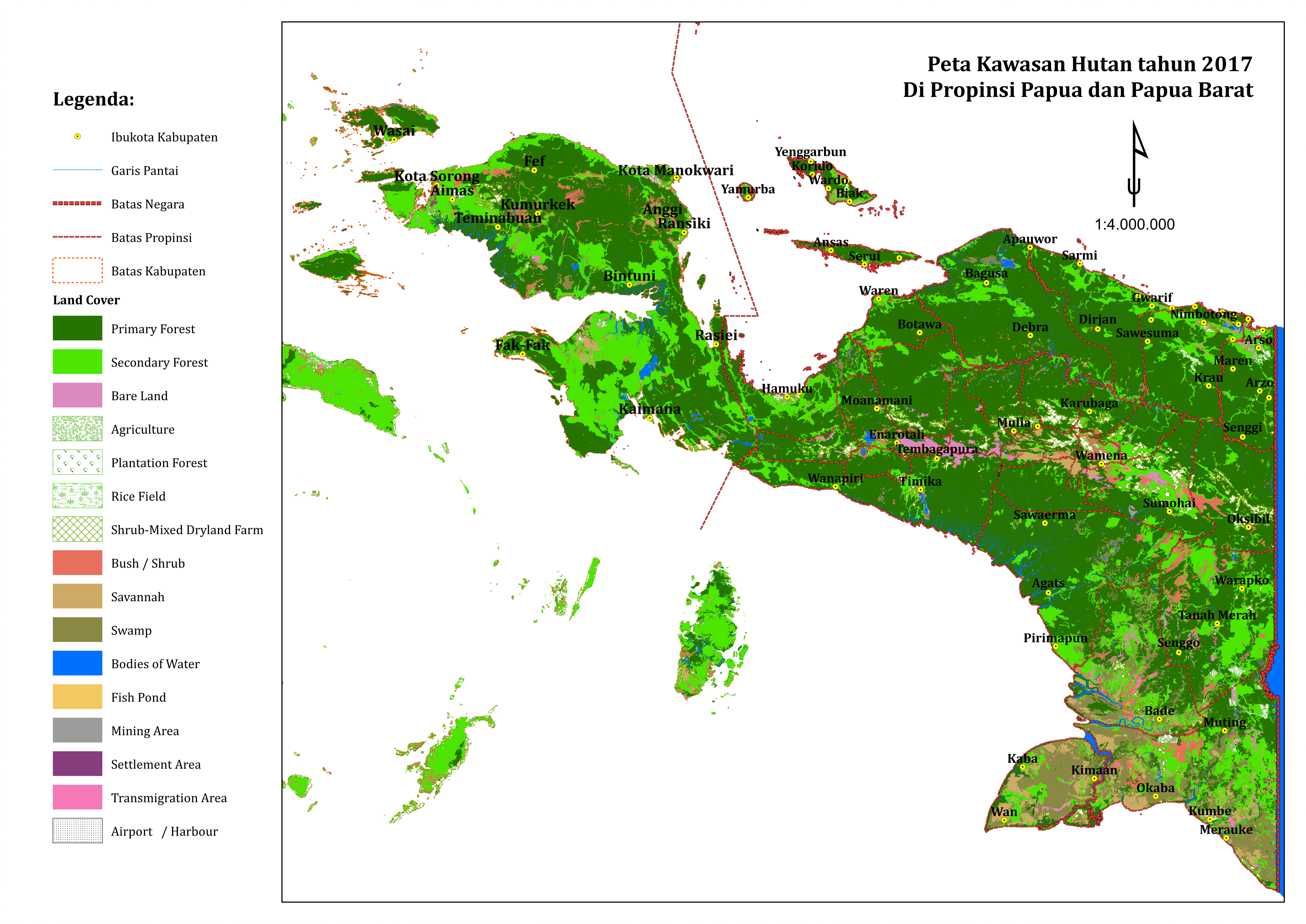 Pantau Deforestasi Tanah Papua Lewat Atlas Papua Pantai Peta Hutan