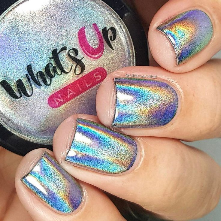 Holographic Powder | Uñas lindas